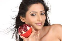 dziewczyny mienia hindusa granatowiec Obraz Royalty Free