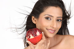 dziewczyny mienia hindusa granatowiec Obrazy Royalty Free
