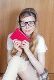 Dziewczyny mienia książka Obraz Royalty Free