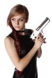 Dziewczyny mienia pistolet obrazy stock