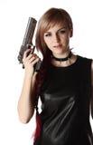 Dziewczyny mienia pistolet zdjęcie royalty free