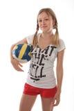Dziewczyny mienia siatkówki piłka Zdjęcie Royalty Free