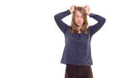 dziewczyny migrena Zdjęcie Stock