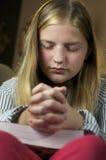 Dziewczyny modlenie Obraz Stock