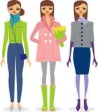 dziewczyny modna wiosna Zdjęcie Royalty Free