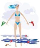 dziewczyny morze ilustracji