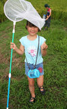 dziewczyny motylia sieci Zdjęcie Royalty Free