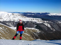 dziewczyny mountain Obraz Royalty Free