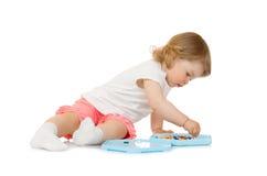 dziewczyny mozaiki mała zabawka Fotografia Stock