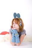 dziewczyny muzyka Obrazy Royalty Free