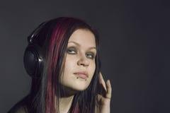 dziewczyny muzyka Obraz Royalty Free
