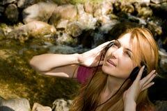dziewczyny muzyki Obraz Royalty Free
