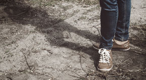 dziewczyny nóg butów sport Obrazy Stock