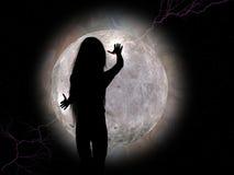 dziewczyny na księżyc Obrazy Royalty Free