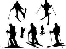dziewczyny na nartach Zdjęcia Stock