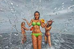 Dziewczyny na plaży Obraz Royalty Free