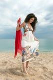 dziewczyny na plaży, zdjęcie stock