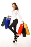 dziewczyny na zakupy Fotografia Stock