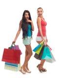 Dziewczyny na zakupy Fotografia Royalty Free
