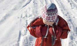 dziewczyny narciarstwo Zdjęcia Stock