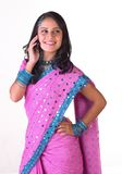 dziewczyny nastoletni indyjski mobilny Zdjęcia Stock