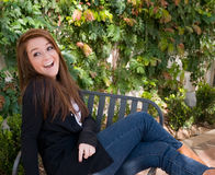 dziewczyny nastoletni szczęśliwy Fotografia Royalty Free