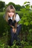dziewczyny natury ja target664_0_ Obraz Stock