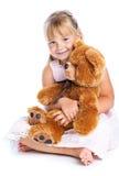 dziewczyny niedźwiadkowy miś pluszowy Obraz Stock