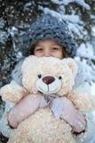 dziewczyny niedźwiedziej mały teddy Obraz Royalty Free