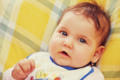 dziewczyny niemowlaka portret zdjęcie stock