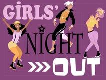 Dziewczyny noc out grępluje ilustracja wektor