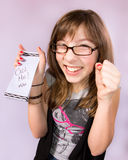 dziewczyny notatka Zdjęcie Stock