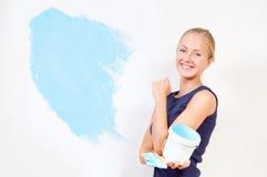 dziewczyny obrazu ściany Obrazy Royalty Free