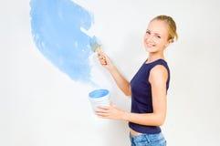 dziewczyny obrazu ściany Fotografia Stock