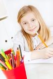 dziewczyny obrazu obrazka stół Obrazy Royalty Free