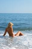 dziewczyny oceanu fala Obraz Stock