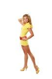 dziewczyny odzieżowy kolor żółty Obrazy Royalty Free