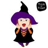 Dziewczyny odzieży czarownicy kostium ilustracja wektor