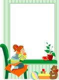 dziewczyny okno ilustracji