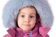 dziewczyny owłosionej kapelusz mały portret obrazy royalty free