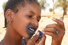 dziewczyny peul tatuować Obrazy Royalty Free