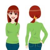 dziewczyny piękna koszula t Zdjęcia Stock
