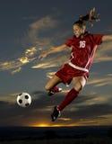 dziewczyny piłka nożna zdjęcie stock