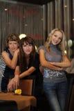 dziewczyny piękna restauracja trzy Obrazy Royalty Free