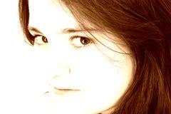 dziewczyny pięknej brown ton nastolatków. Zdjęcia Royalty Free