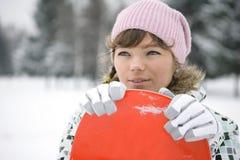 dziewczyny piękny snowborder Zdjęcia Stock