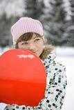 dziewczyny piękny snowborder Obraz Royalty Free
