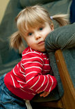 dziewczyny pigtails portret Obrazy Royalty Free