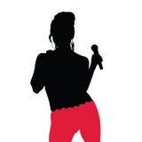 Dziewczyny piękna śpiewacka ilustracja Obraz Royalty Free