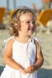 dziewczyny plażowy morze Obrazy Royalty Free